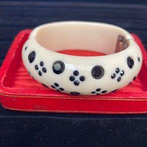 VTG WEISS Rhinestone Thermoset Hinged Bracelet